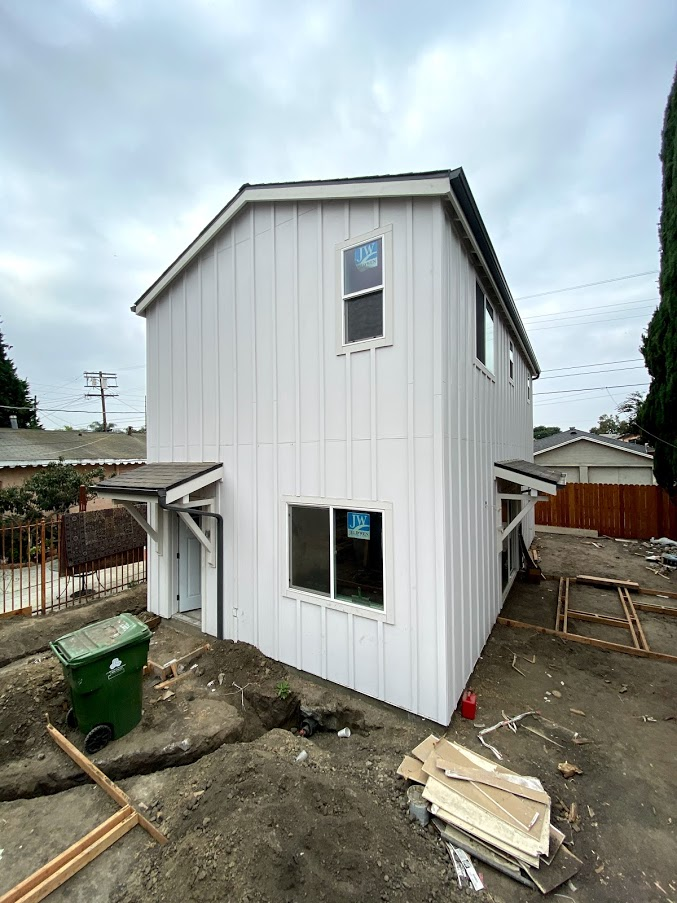 Picture of the finished exterior of our Accessory Dwelling Unit