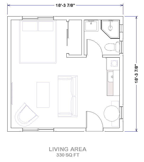 Adu Garage Conversion 101 Turning, Converting A Garage Into An Apartment Floor Plans